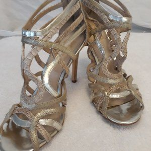 Coach Gladiator Stilleto sandals metallic  7.5